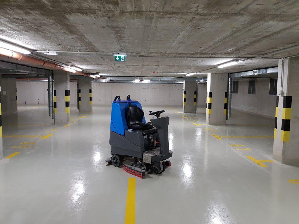 Parkolóházak, mélygarázsok takarítása